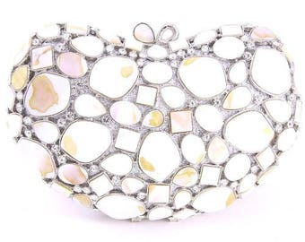 Couture Crystal Pearl Clutch Bag