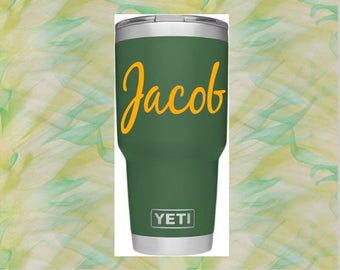 Yeti Tumbler Decal, Yeti Cup Decal, Colster Decal, Vinyl Monogram Decal, Personalized Decal, Monogram Decal, Decal for Ozark, RTIC DECAL