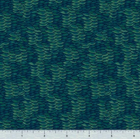 Fish scale fabric new reel it in dark green fish scales for Fish scale fabric
