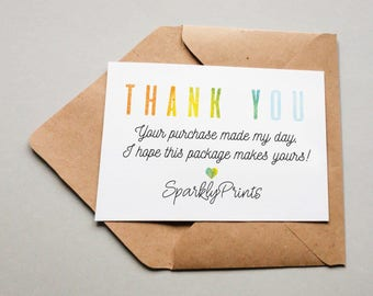 business thank you cards download editable printable packaging insert shop thank you postcard