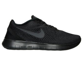 Bling Nike Free RN Shoes Black Customized with Swarovski Crystals, New in Box, Women's shoes