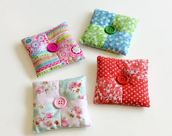 Beautiful handmade, patchwork, mini cushion design lavender sachets
