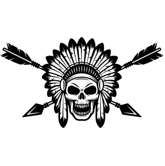 indian logo 1 native american warrior skull axe headdress Female Indian Chief Happy Birthday Chief