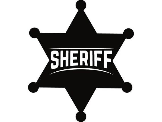 Sheriff Badge 3 Cowboy Western Rodeo Wild West Wrangler