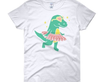 T-rex with sunglasses and tutu shirt