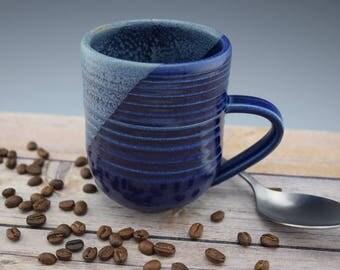 Royal Blue Ceramic Handmade Mug, Handmade Mug, Ceramic Coffee Mug, Coffee Cup, Studio Pottery Mug, 12 oz