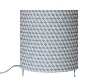 Child lamp - cubes /blancs blue/gray