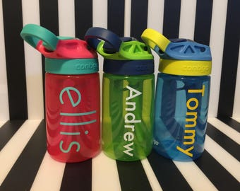 Personalized Contigo Auto Spout Gizmo Kids Water Bottles  **Perfect for back to school!**