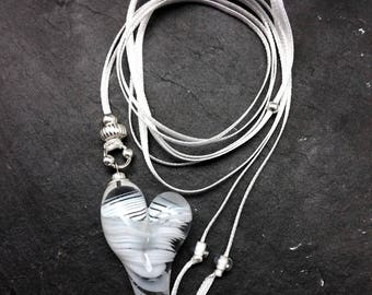 Romantic Sweet White Heart Necklace