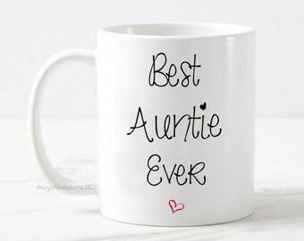 Best Auntie mug, best aunt mug, best aunt gift, baby reveal, pregnancy announcement mug, gift for aunt, best aunt coffee mug, best aunty mug