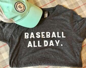 Baseball All Day T-shirt | Baseball T-shirt