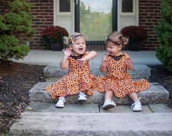 Girls Candy corn dress - halloween dress - fall dress - baby dress - girls dress