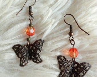 """Bohemian dangle earrings """"butterfly effect"""""""