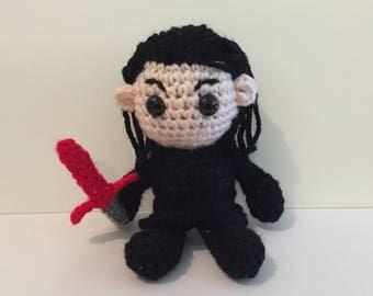Kylo Ren Amigurumi Crochet Doll