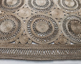 Hand Stiched Indian Jute Rectangular Rug