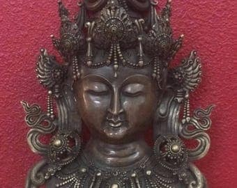 Green Tara Bronze Mask
