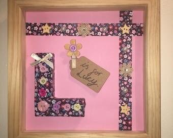 Personalise Letter Frame