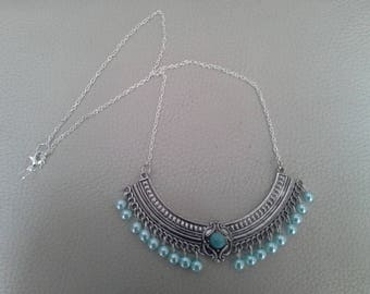Necklace ethnic chic Pearly beads