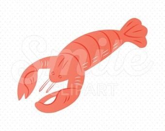 RED LOBSTER Clipart Illustration for Commercial Use | 0079