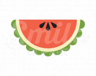 WATERMELON WEDGE Clipart Illustration for Commercial Use | 0111