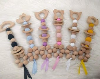 Baby rattles, teething rattle, teethers- 7 colours available