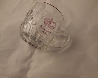 Queen Elizabeth II Coronation 1/2pint glass