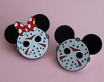 GLITTER - Mickey & Minnie Voorhees - Pin