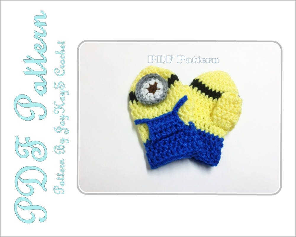 Minion mittens crochet pattern baby toddler crochet pattern from minion mittens crochet pattern baby toddler crochet pattern bankloansurffo Choice Image