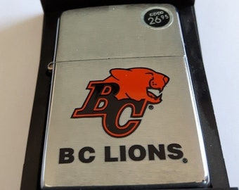 Rare 2002 B.C Lions CFL Football Zippo Lighter