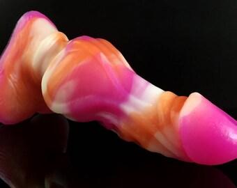 Medium Hati (Medium) - Orange/White/Pink Colorchanging Marble