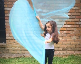 Child Worship Flags: Angel Wing Flags, child size, adult small size, CUSTOM MADE to ORDER