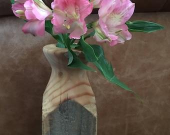Hand turned rustic pot/desk tidy/vase