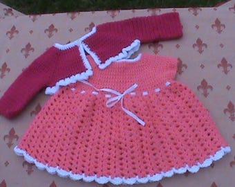 Crochet Baby Dress & Bolero
