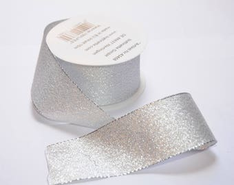 Silver sparkly Ribbon 40mm