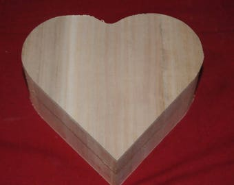 heart shaped box made of wood