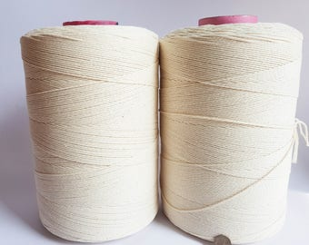 6 kg 2mm Twisted cotton rope 5/64in Macrame cord for DIY projects; 3 strand Cotton cord.  cotton cord EXPRESS SHIPPING