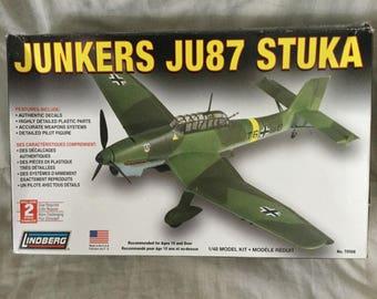 Lindberg 70508 Junkers JU87 Stuka 1/48 Model Kit Level 2 New in opened box