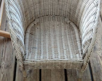 Rattan chair child -Vintage - French - bohemian -