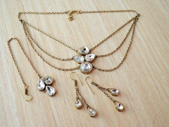 Wedding Jewelry Set Indian For Kids Kundan