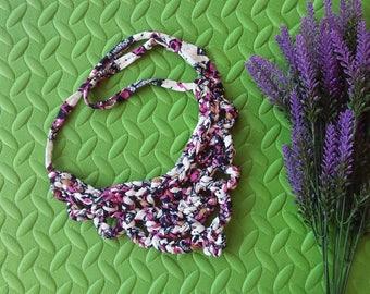 Necklace multicolor trapillo