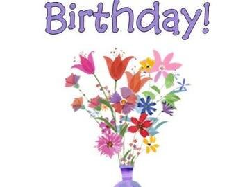 Birthday Card, Greeting Cards, Printable Card, Card for Mom, Digital Card, Happy Birthday Card, Printable Birthday,