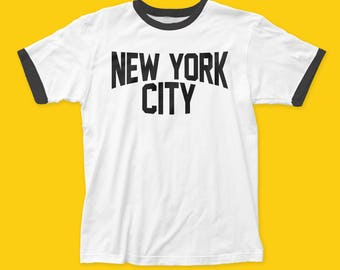 Impact Originals New York City Cotton Ringer Fitted Jersey Tee (IMP80) White