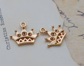 5 of 14k gf crown charm pendant 14*8mm