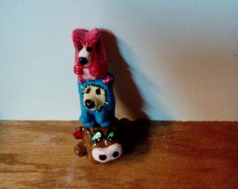 Small fetish Totem animal, polymer clay