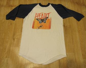 Vintage Heart  Dog and Butterfly Tour Raglan shirt concert shirt