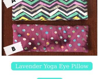 Handmade Yoga Eye Pillows - fresh lavender