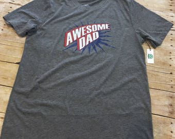 Awesome dad tee, Father's Day, birthday, gift, graphic tee, free shipping