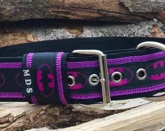 Dog collar - dog - collar strap - Doggy necklace ' Summer - Batgirl