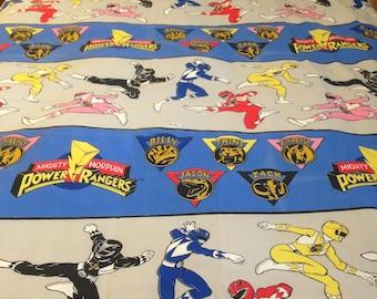 Vintage Power Rangers TWIN FLAT Sheet
