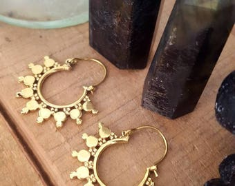 Petite brass earrings